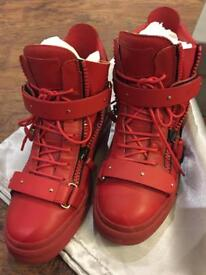 Giuseppe Zanotti red High Top Sneaker