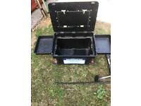 Fishing octopus fishing box/seat with two side trays —- no feet