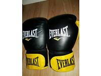 Boxing Gloves EVERLAST and hand wraps.