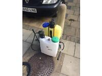 Copper peggler knapsack sprayer and chemical