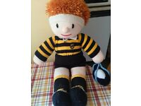 Rugby Rare Handmade Large Knitted Rugby Player