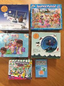 Children's puzzle bundle (6x assorted puzzles)