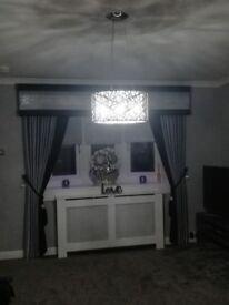 Curtains and pelmet