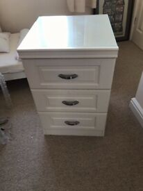Off white bedside cabinet