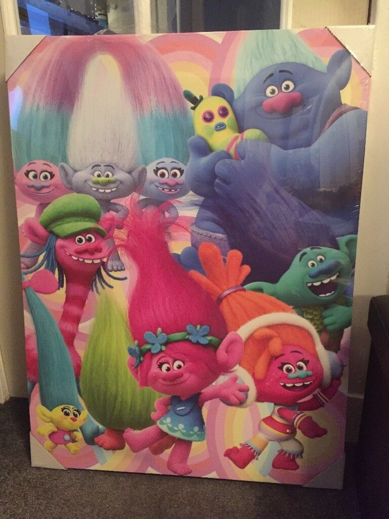 Trolls Canvas still in wrapper