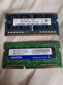 SODIMM 6GB(2+4) DDR3 1600Mhz laptop memory