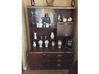 Mahgony Display Cabinet and Mirror