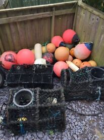 Job Lot of Lobster/crab pots and load of buoys/fenders