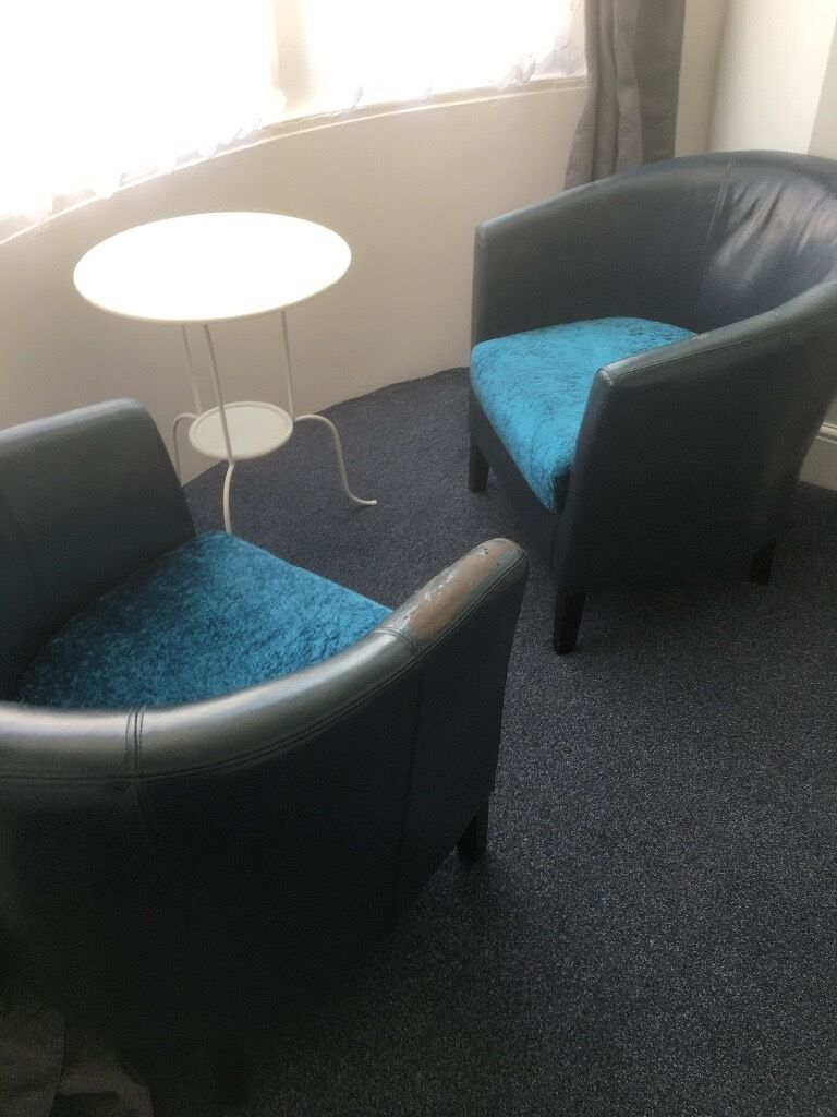 Chairs x2tub chairsin Brighton, East SussexGumtree - Chairs x2, 2 tub chairs for sale Use as they are or they would suit refurb as the leather on arms has perished hence low price Seat is crushed velvet Collect asap from BN2