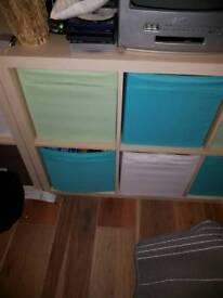 Ikea kallax storage boxes 7 blue 4 light green