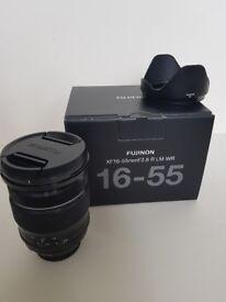 Fujifilm 16-55mm XF 2.9 WR lens with box