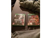 Mafia 3 and wwe2k17 for Xbox one. Brand. New