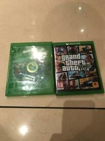 Watch dogs 2 and gta 5 Xbox one game