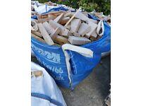 Hardwood timber offcuts.