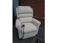 Cream electric riser recliner chair with massage function - Can deliver