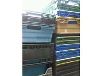 Joblot of bale rod roll bar stacking nesting crates