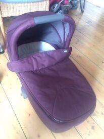 Armadilo Flip XT carrycot baby pram mulberry EXCELLENT