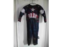 Kids Superhero Costume Captain America 7-8 years 128cm