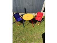 Kids table and foldable chairs