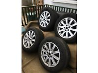 "Alloys with tyres 18"" for land rover"