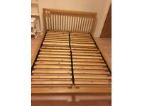 Double Oak Bed Frame £100