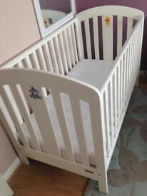 Mamas & Papas Vico cot bed Junior bed white wooden 140cm