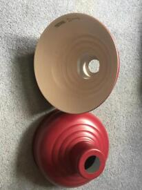 Red Industrial ceiling lights
