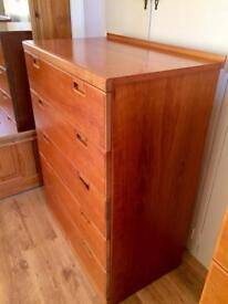 Vintage Teak Chest of Drawers - 1970's, G Plan Style, Mid-Century, Danish, Good Condition - 2