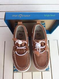 Clarks boys deck boat shoe