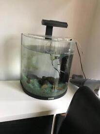 Tetra fish tank with air pump and pump