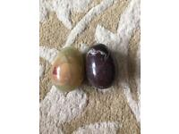 2 marble eggs