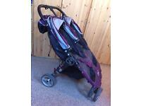 Baby Jogger City Mini Double pushchair with raincover and footmuffs x2