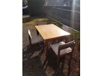 1960s teak dining table and chairs