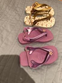 Size 24 EU Havaianas flip flops