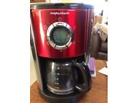 Red Morphy Richards coffee percolating machine