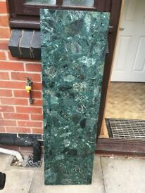 Green Granite Fireplace Hearth Pre owned in good condition