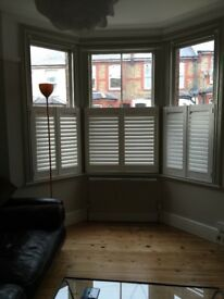 Plantation shutters x3 cafe style to suit bay window