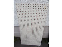 Heavy Duty Pegboard Sheet : 6mm Board , 25mm Hole Spacing 91cm x 49cm { Others available}