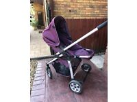 ICandy cherry travel system/pram/pushchair with a maxicosi pebble car seat in great condition