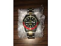 Rolex Oyster Perpetual Red/Black/Gold Mens