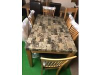 Marble table £180 chairs £70 each