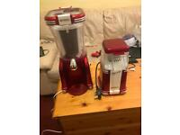 Slush puppies machine and popcorn maker