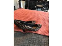 M&S collection leopard print healed shoes