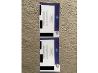 2 tickets for Nickelback at the o2, Standing/General Admission, Thursday 20th, meet in London