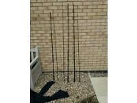 3 carp rods