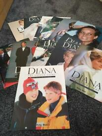 12 booklets about Princess Diana