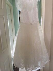 Brand new tea length wedding dress for sale