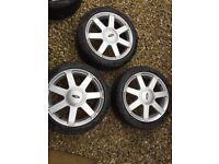 Ford 7 Spoke Alloys w/ Tyres