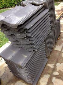 Black sandtoft double pantiles roof tiles