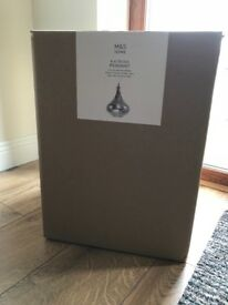 Brand new and unused M&S Pendant Light Fitting, in original packaging.